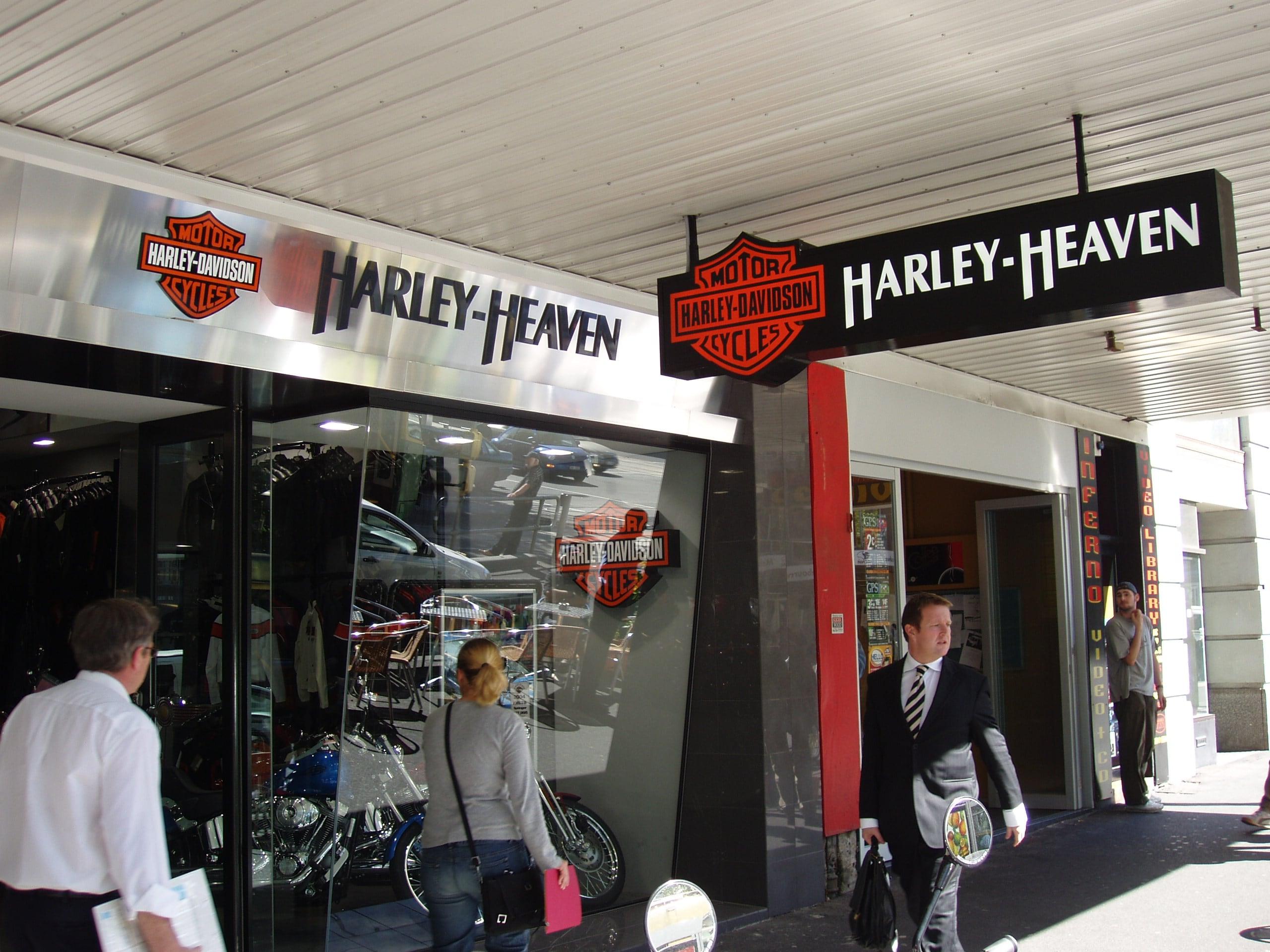 harley heaven shop signage melbourne