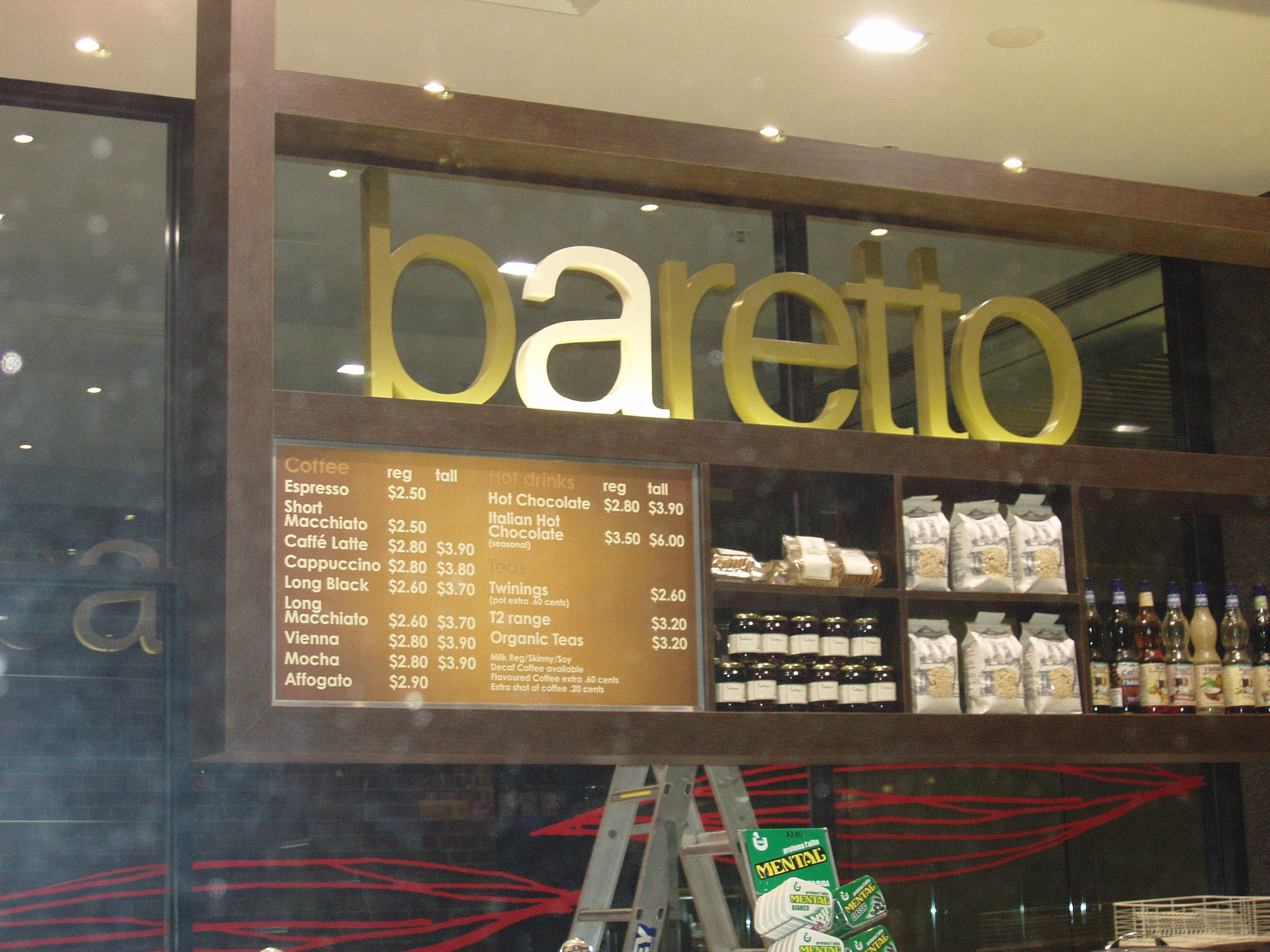 baretto shop signage melbourne
