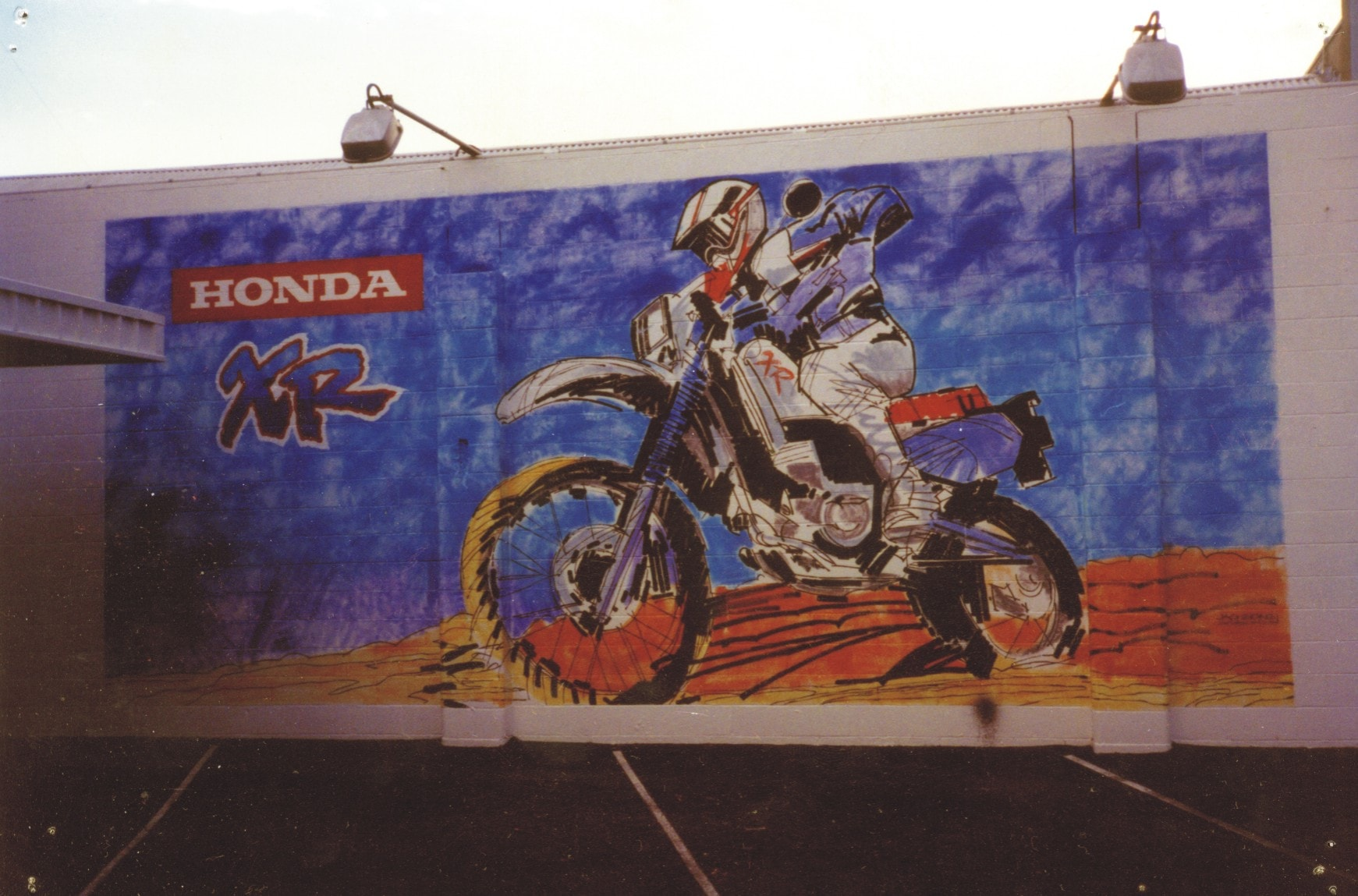 honda xr traditional signwriting
