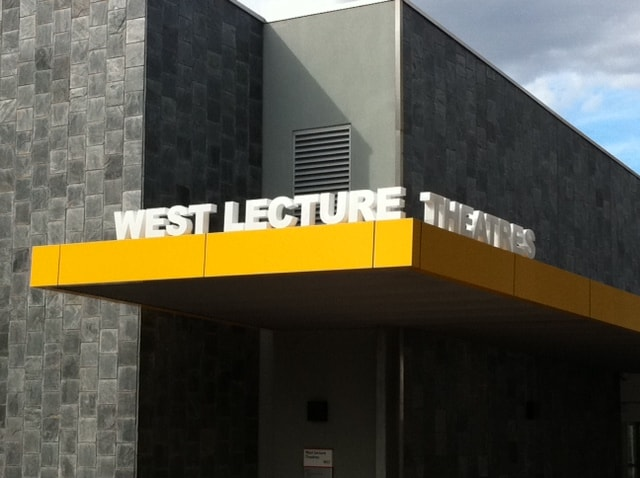building signage for design in outdoor design in west lecture, Illuminated design