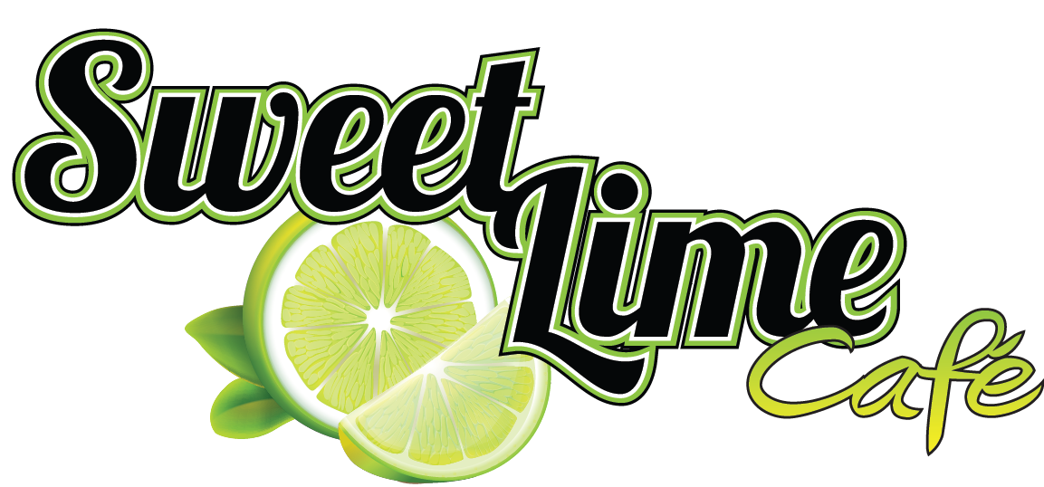 Signage design logo design sweet lime cafe
