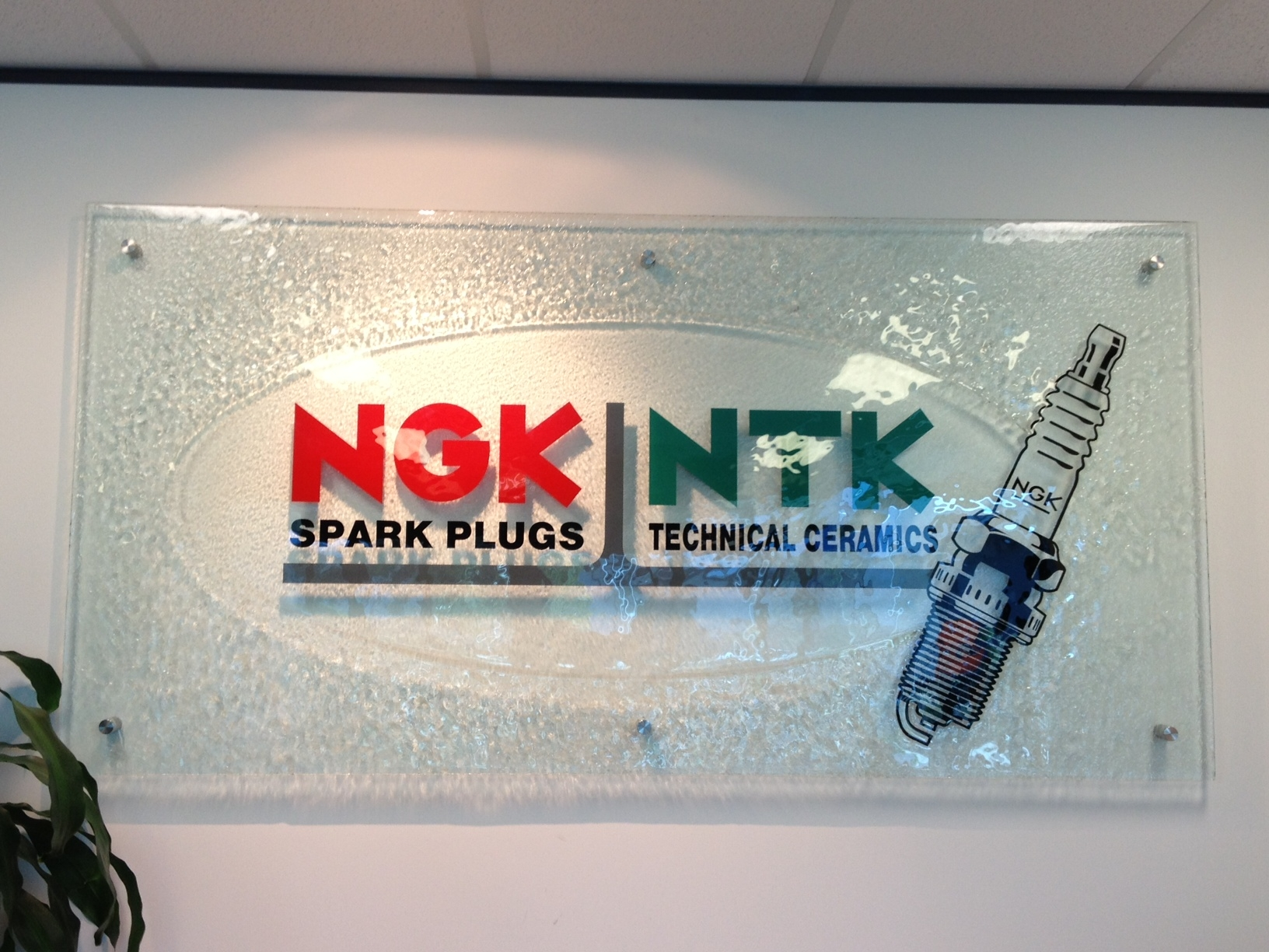 NGK-AU Entrance Glass Sign reception signage