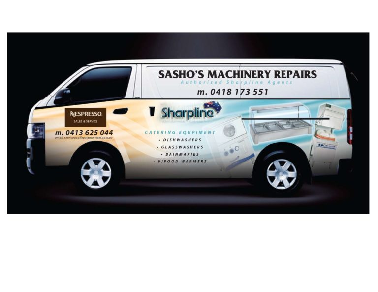 Digital Printing Melbourne vehicle signage Sasho's Van