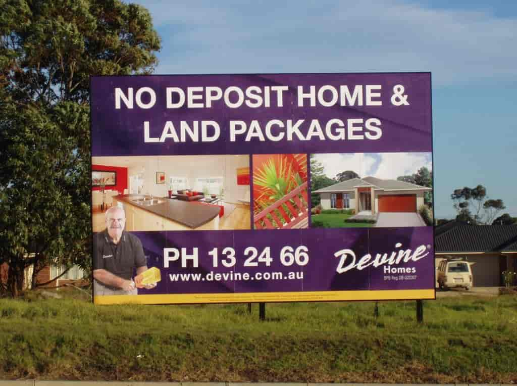 Billboard signage melbourne Digital Printing DEVINE Homes