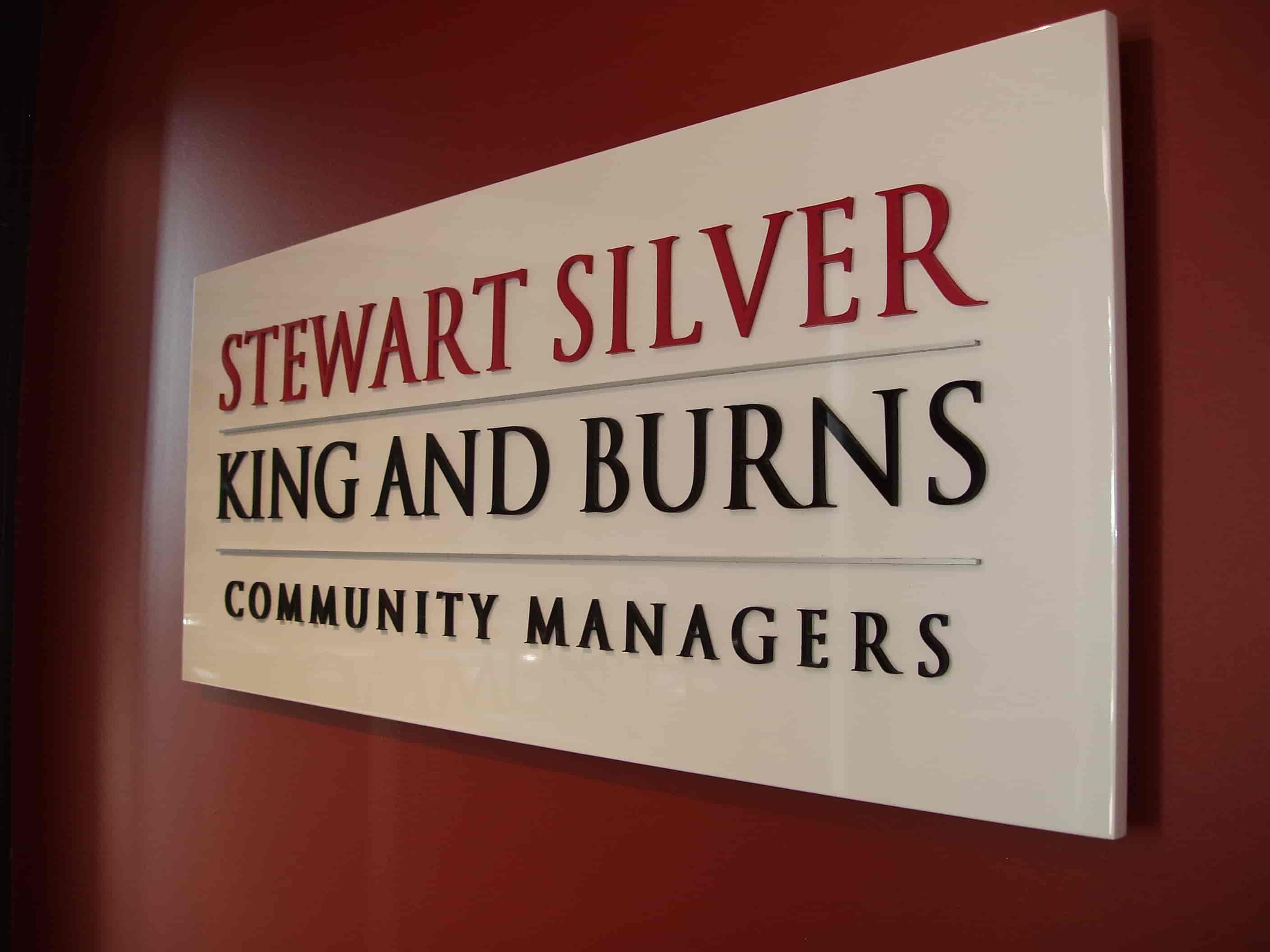 Reception Signage Melbourne Jag signs for Stewart Silver