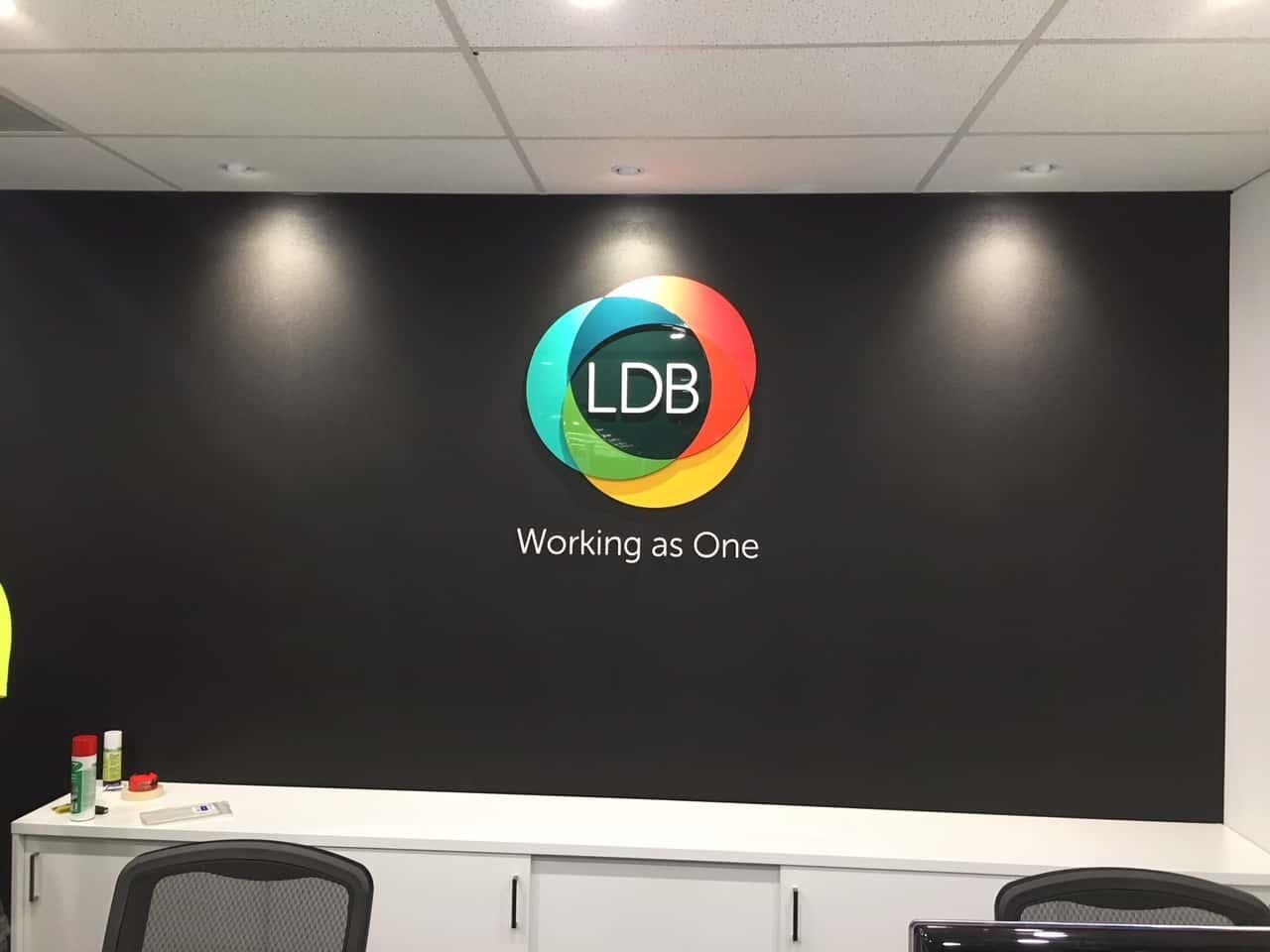 reception Signage LDB