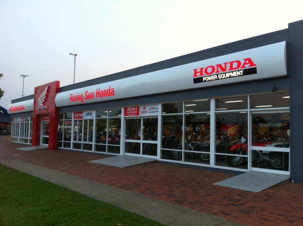 building signage, Digital signs of honda