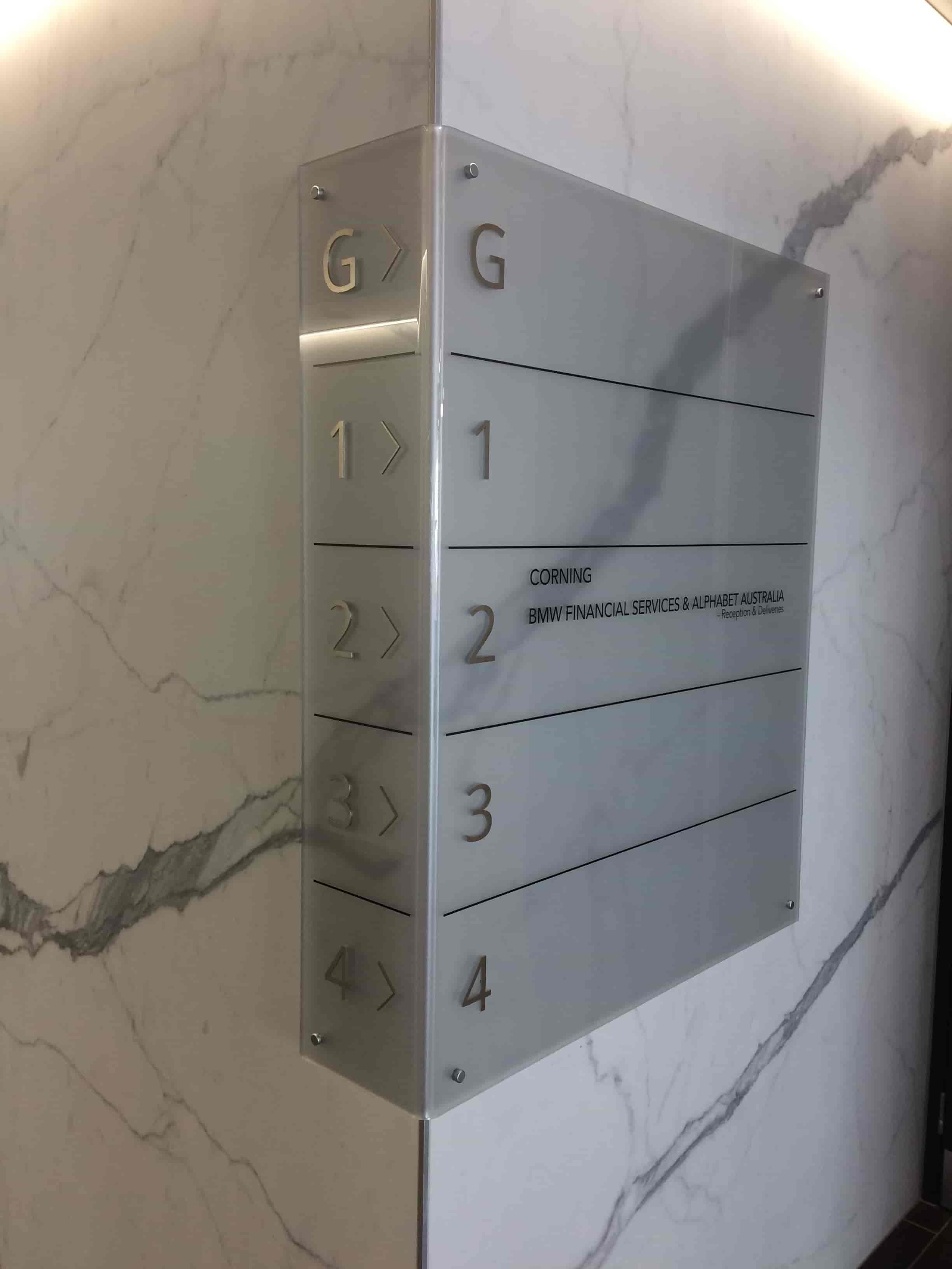 Reception Signage Levels