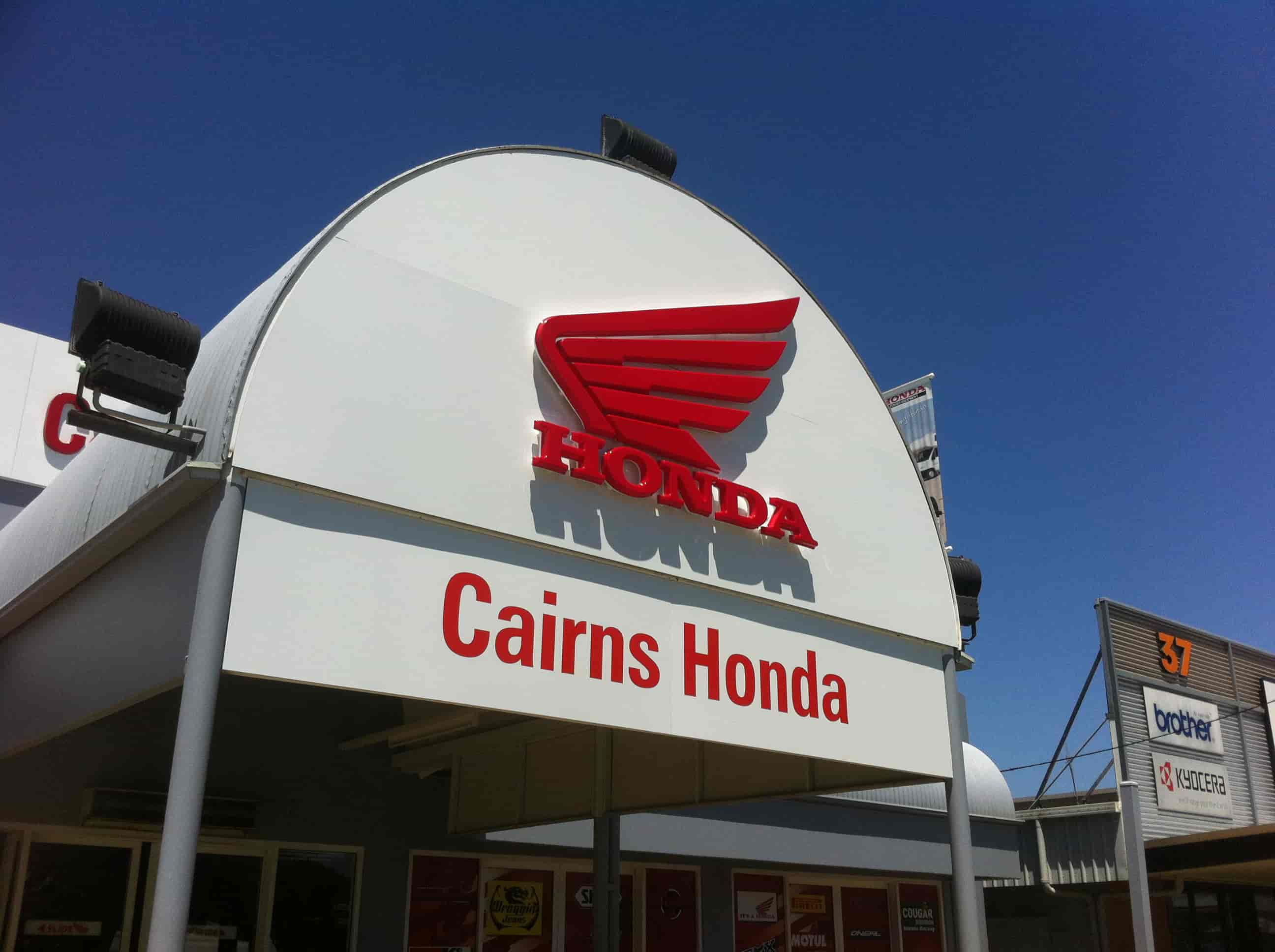 3D Fabricated Lettering honda cairns