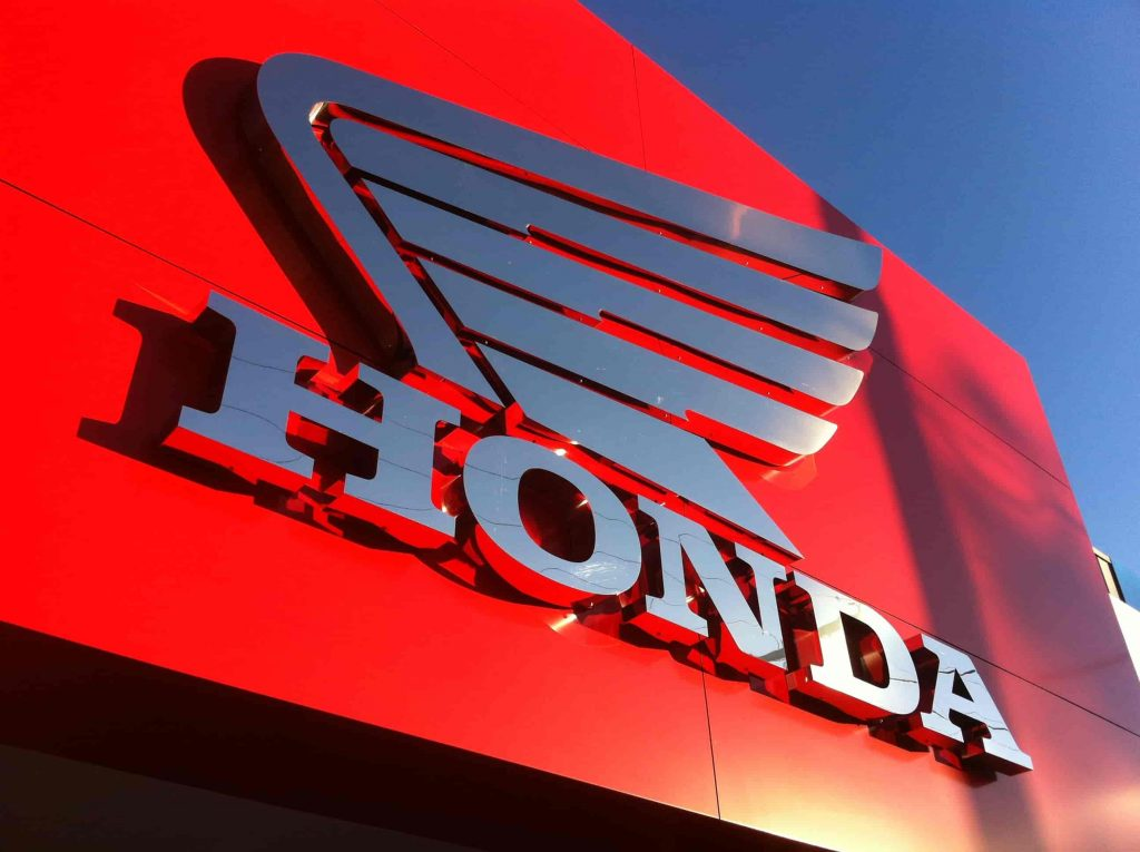 signwriters melbourne 3D Fabricated Lettering HONDA