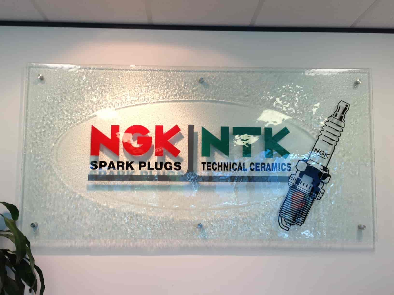 NGK NTK reception signage by Jag Signs signwriters
