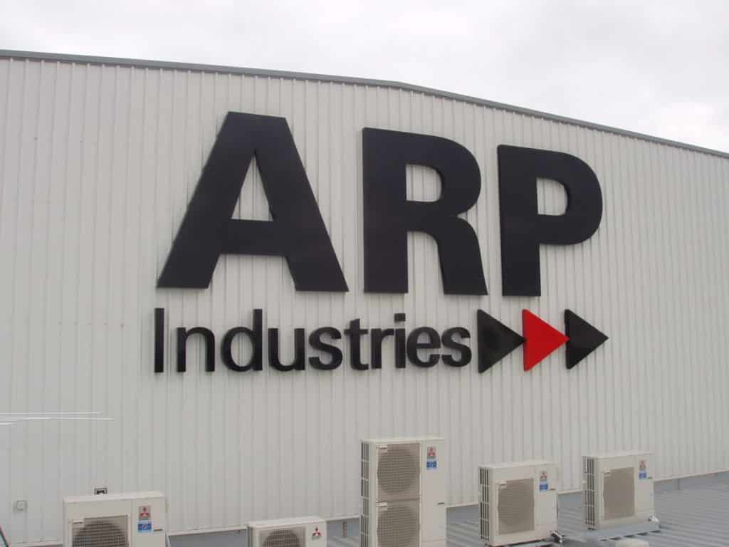 building signage block and bold ARP Industries