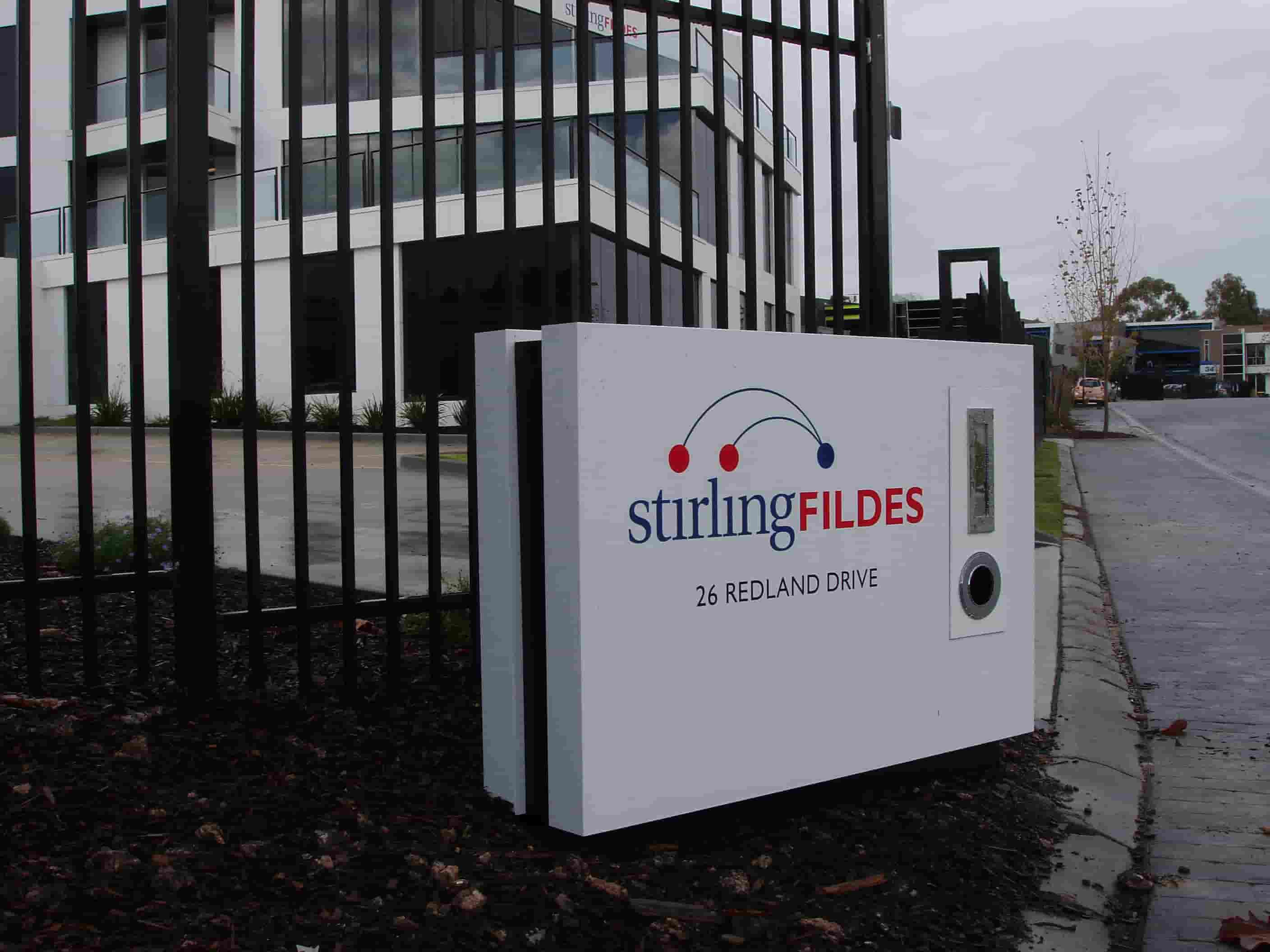 garden Signs signwriters melbourne for stirling fildes