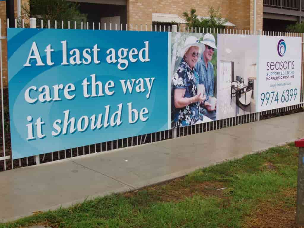 Billboard Signage aged care seasons