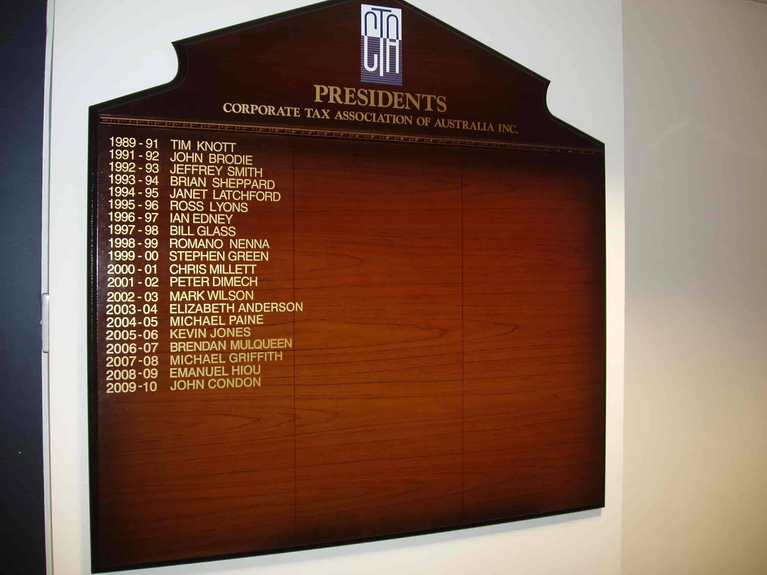 honour boards jag signs