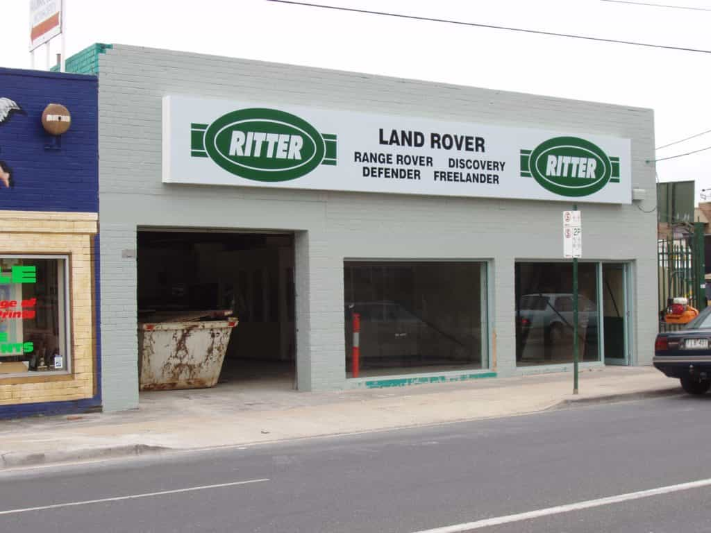 RITTER building signage, Digital printing of shop up front board
