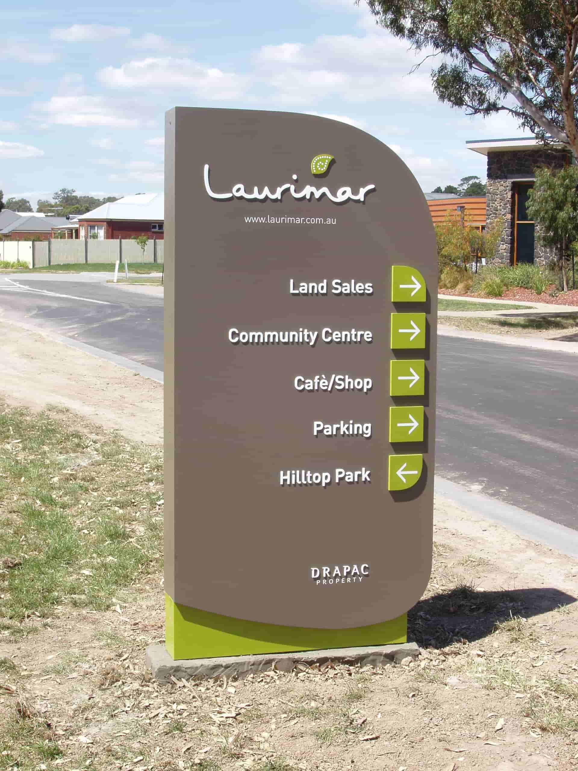 laurimar garden signage pylon