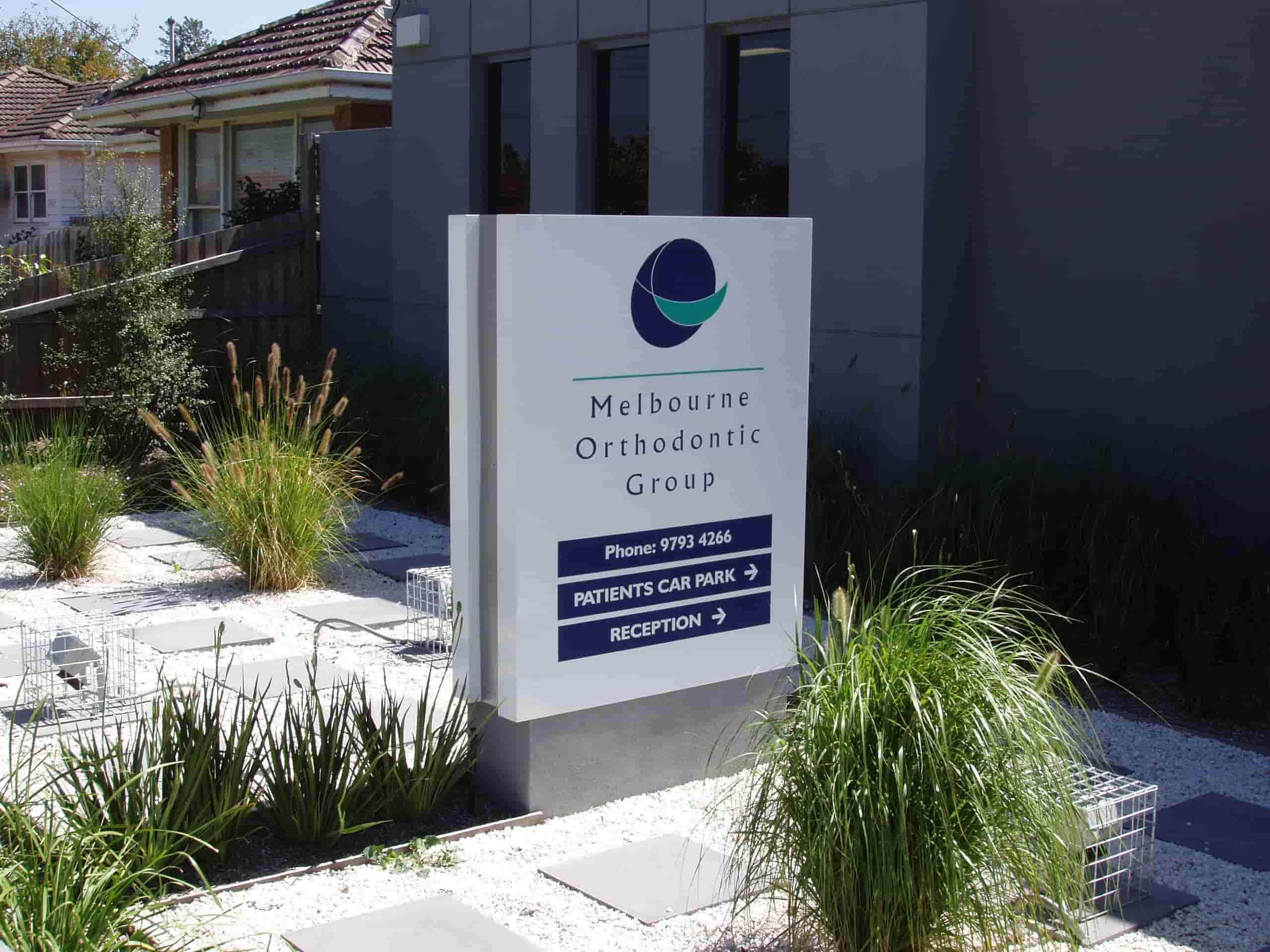 garden signs in Melbourne by jag signs for melbourne orthodontic group