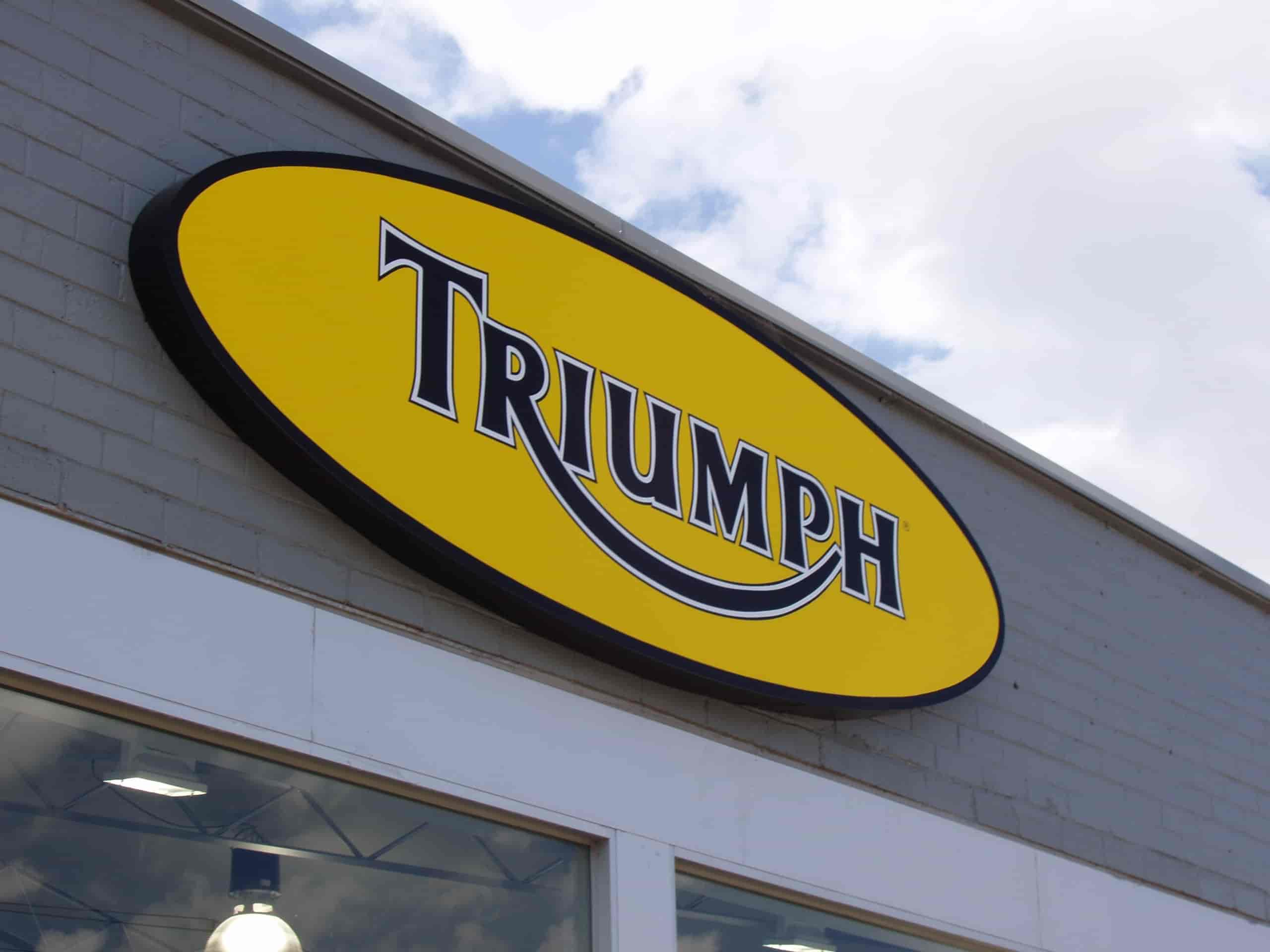 Triumph signage by Jag signs