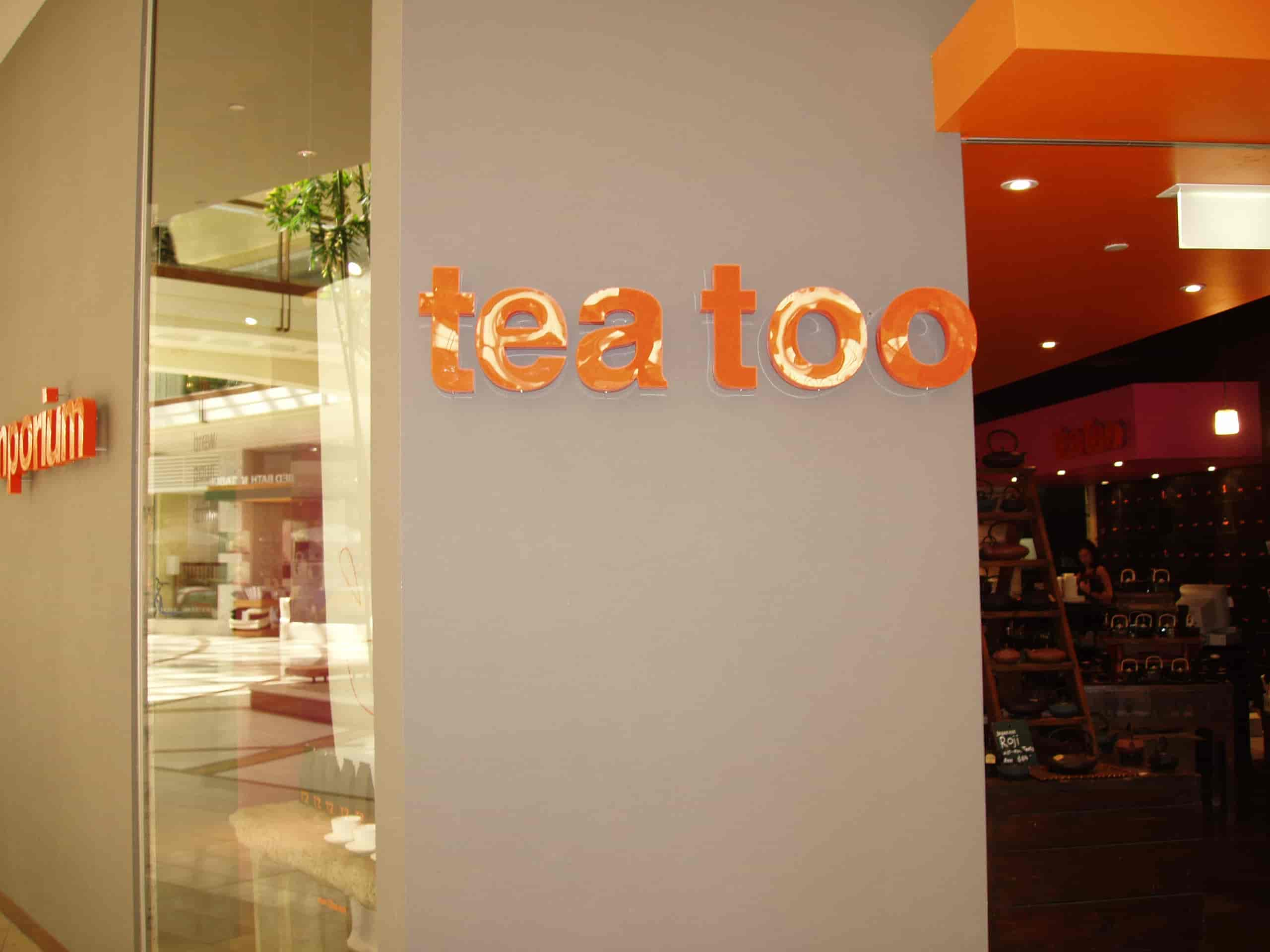 shop front signs tea too