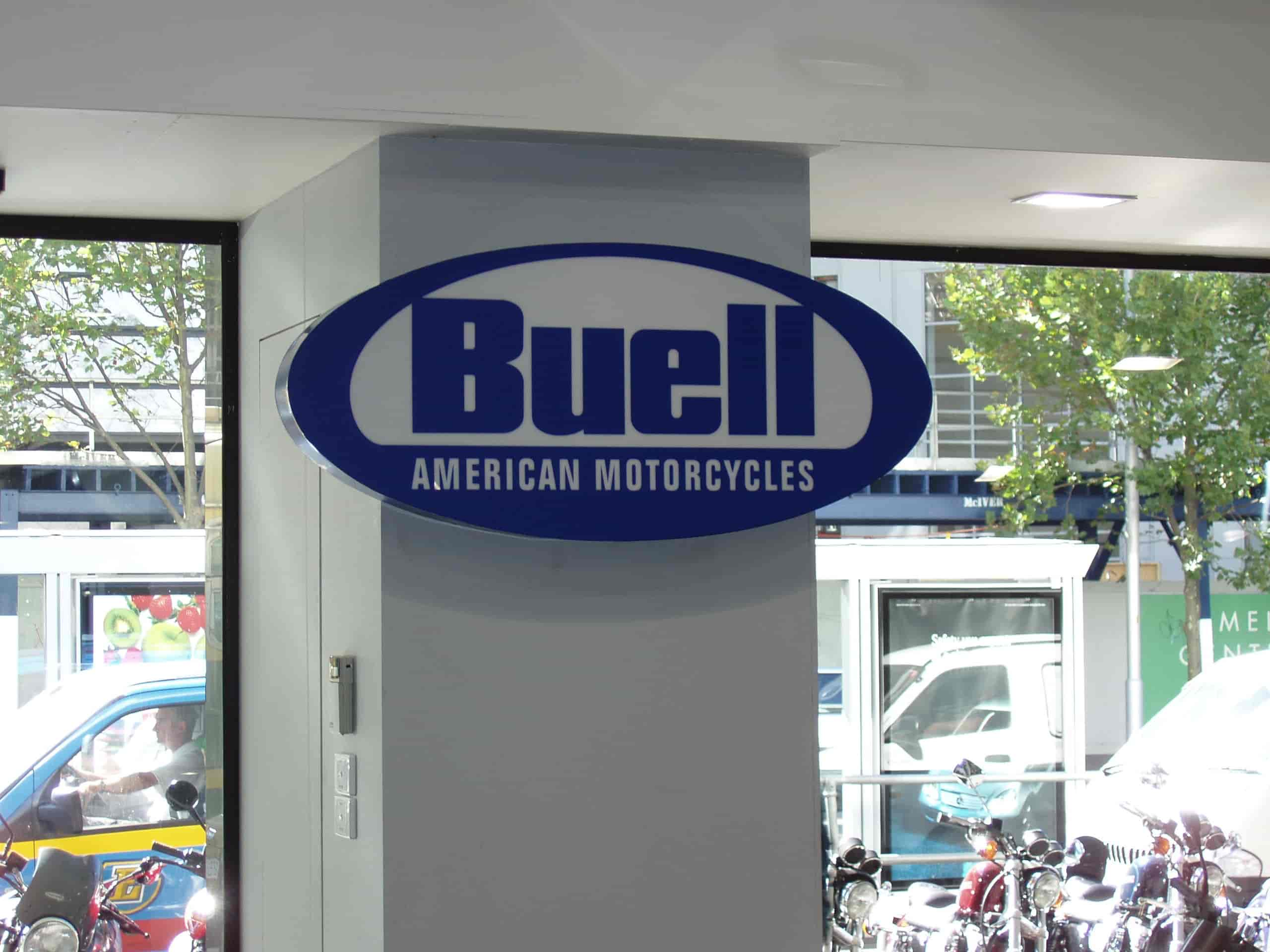 buell american motorcycles signage