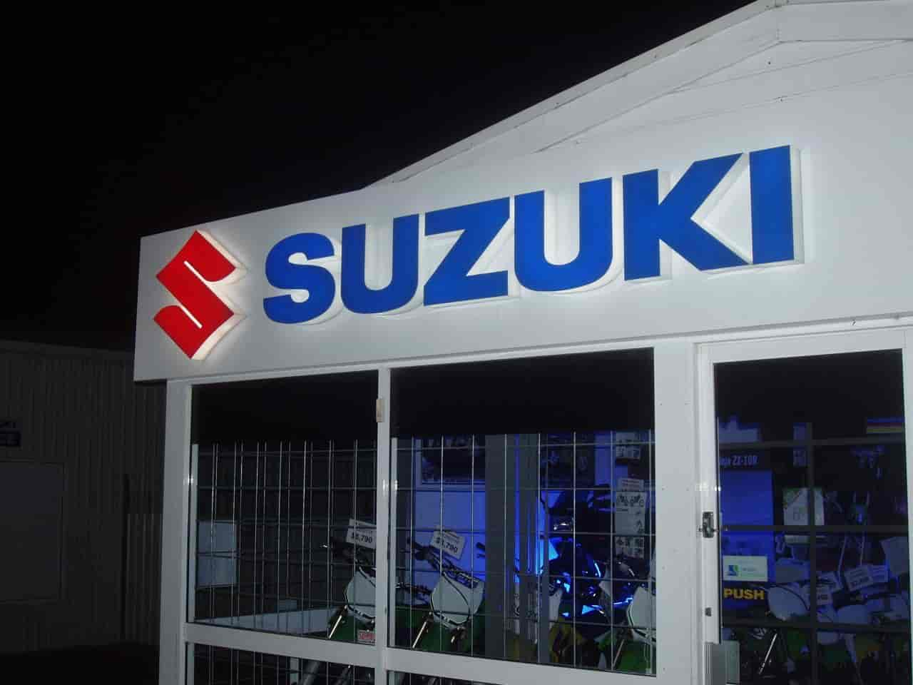 signwriters melbourne illuminated signs suzuki