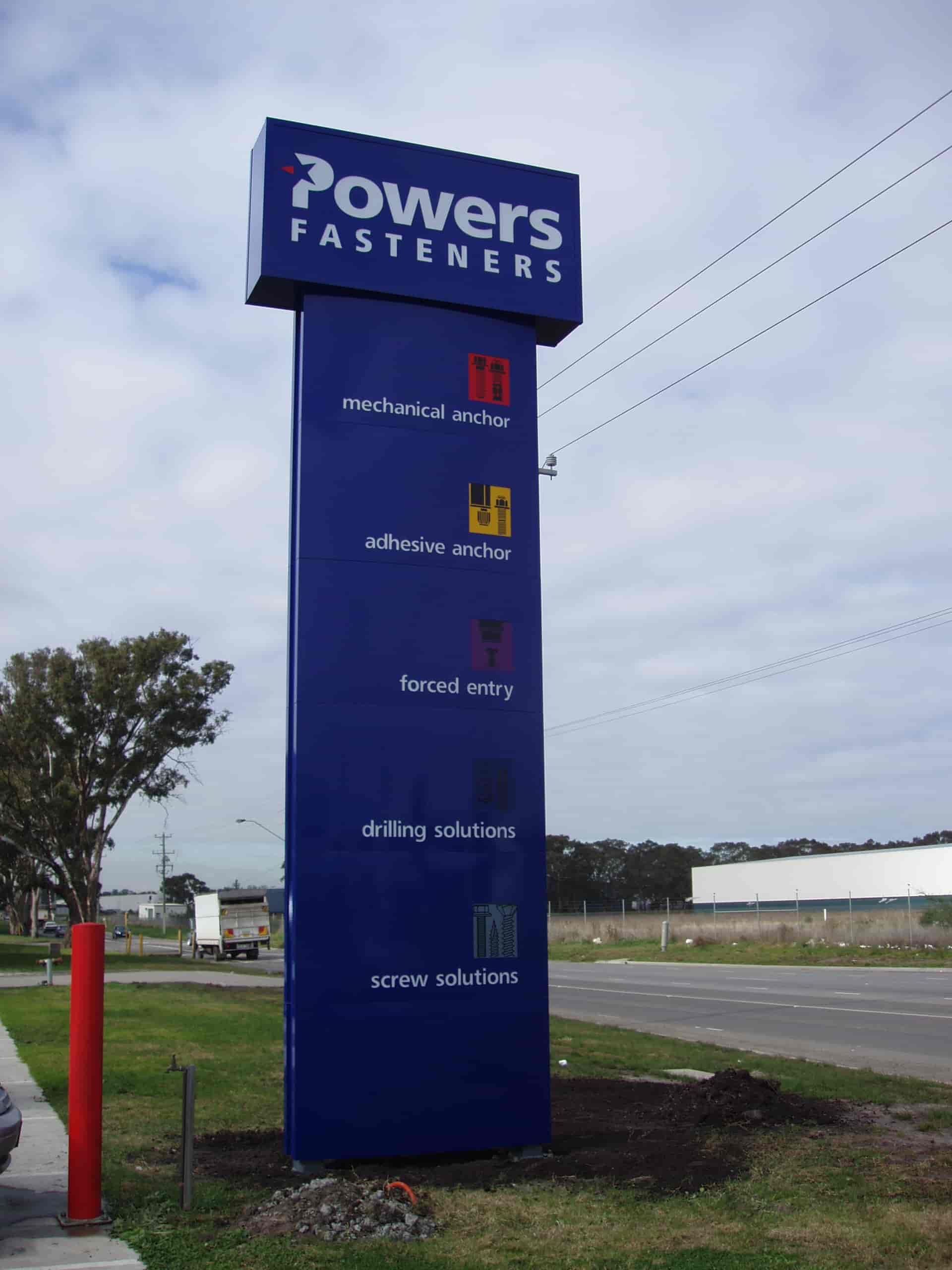 Pylon Signs powers fasteners