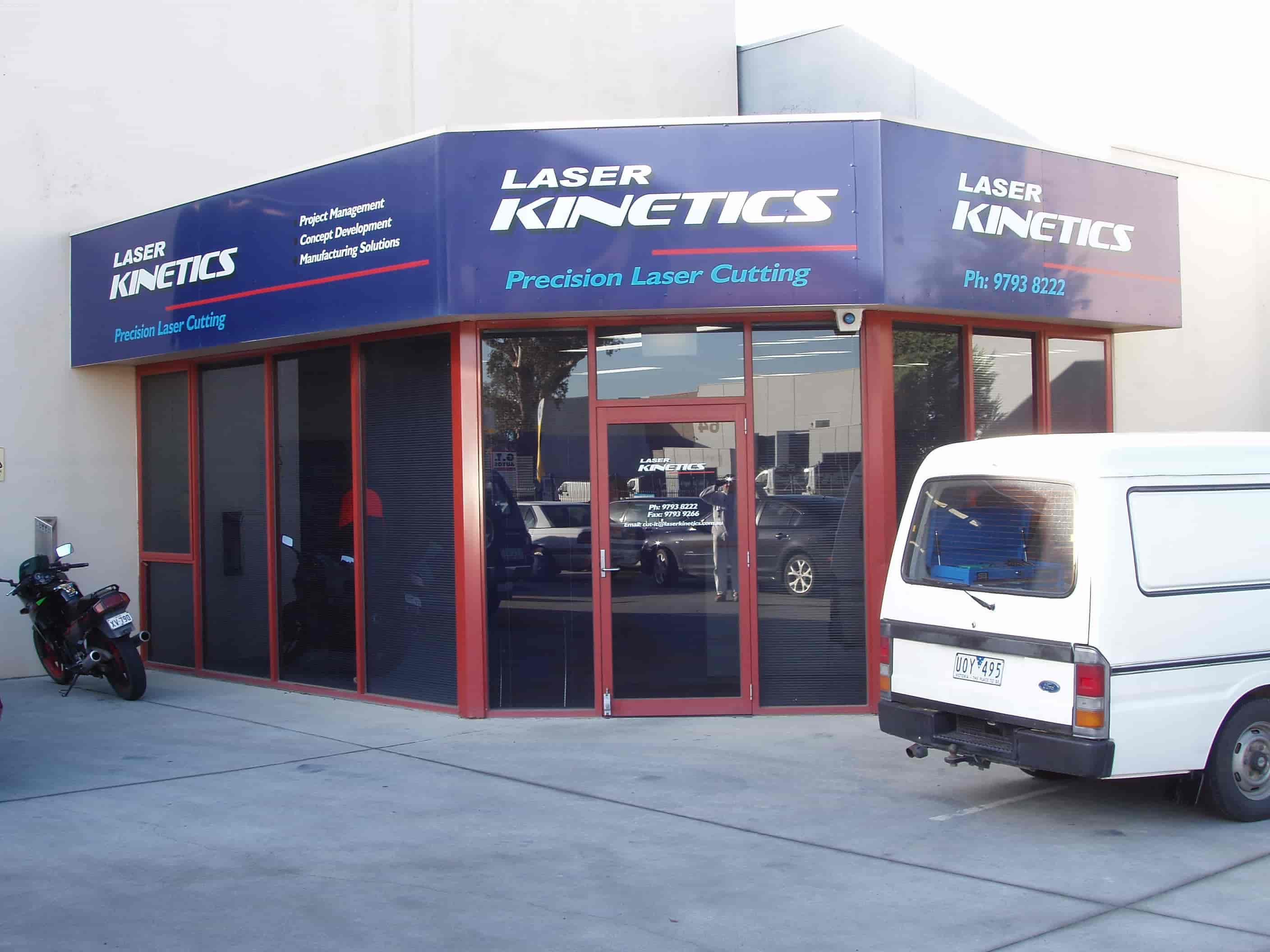 laser kinetics shop front signs
