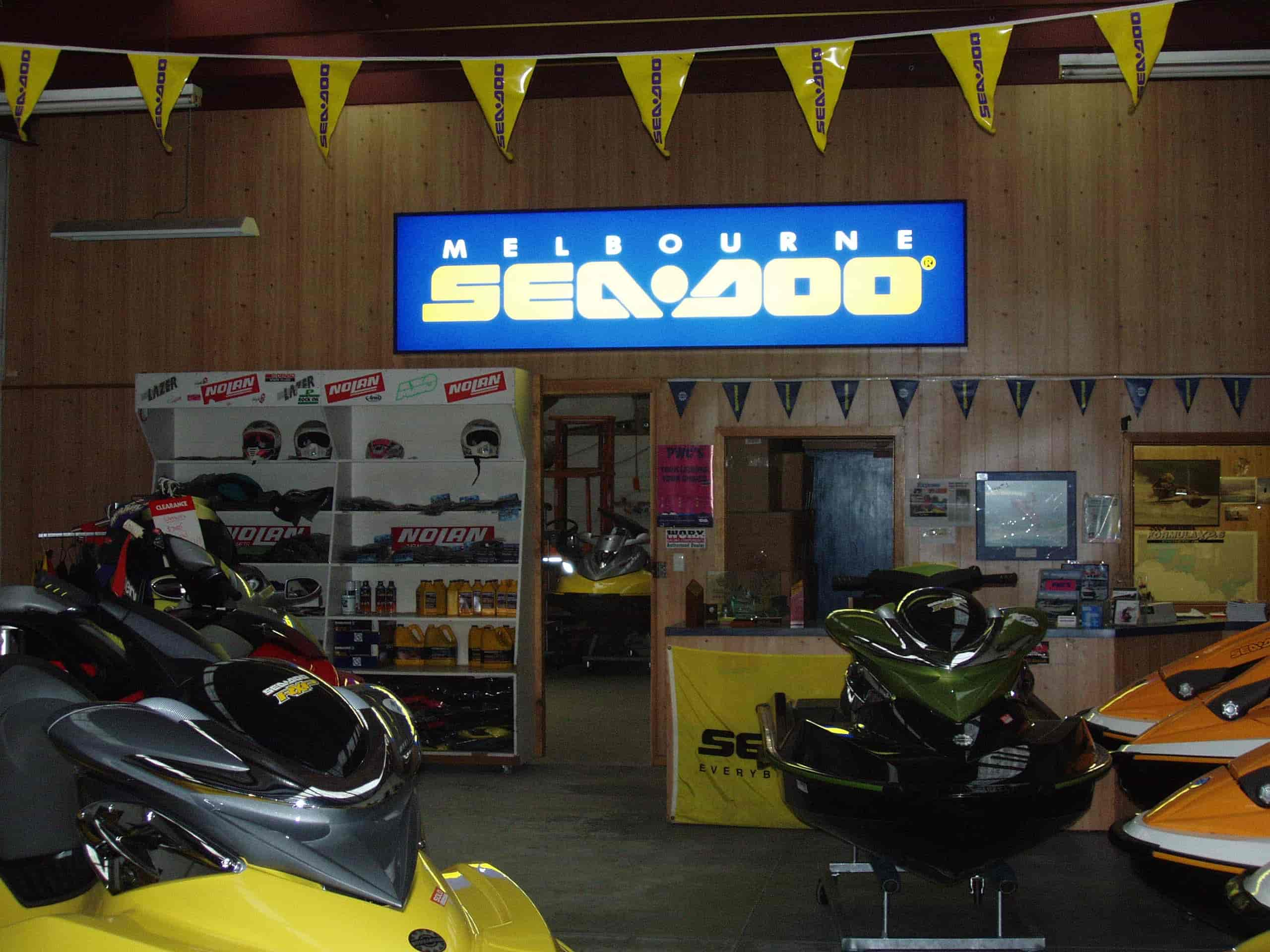 illuminated signs indoor Sea Doo