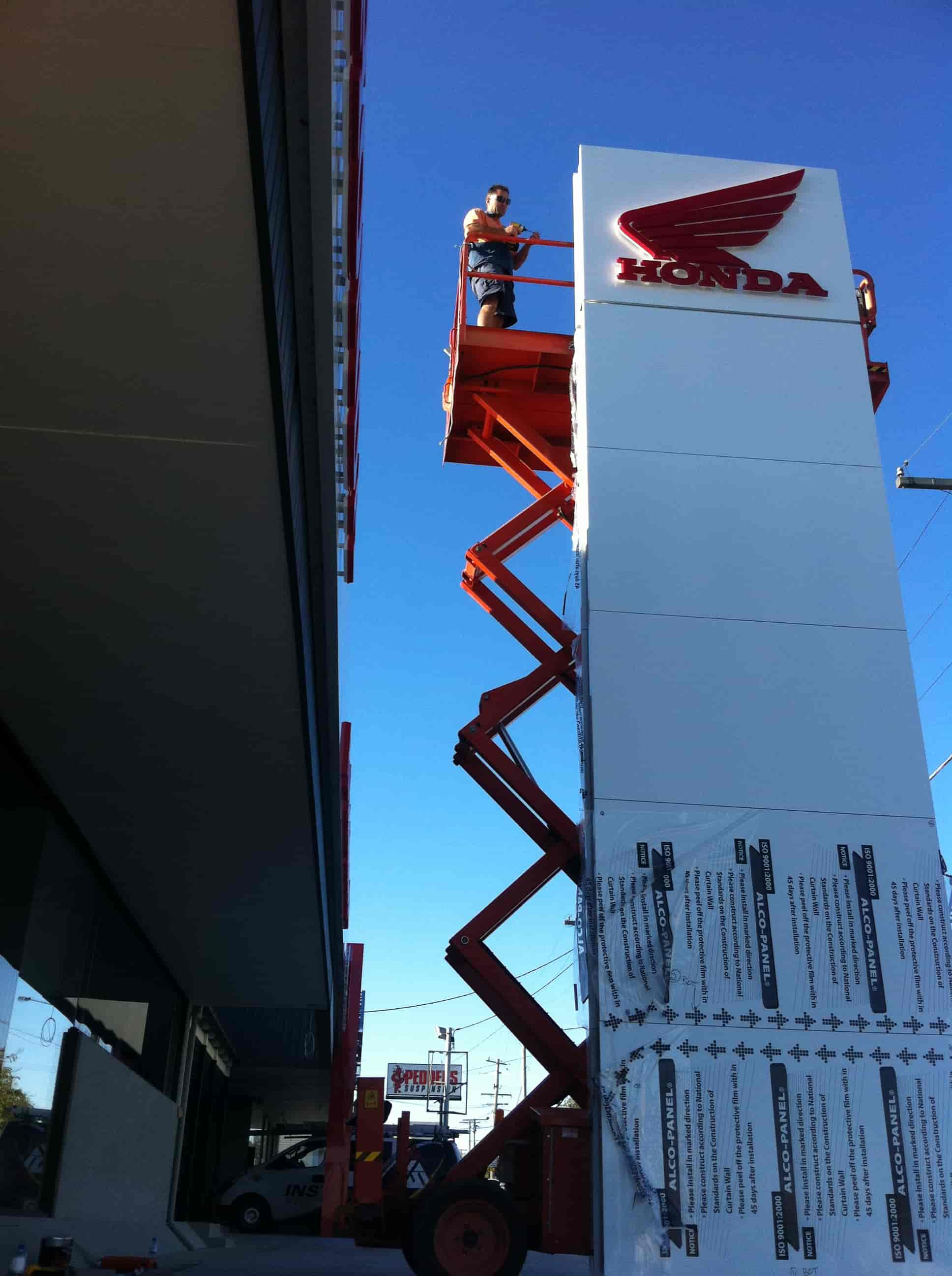 Signage installation Melbourne signwriters