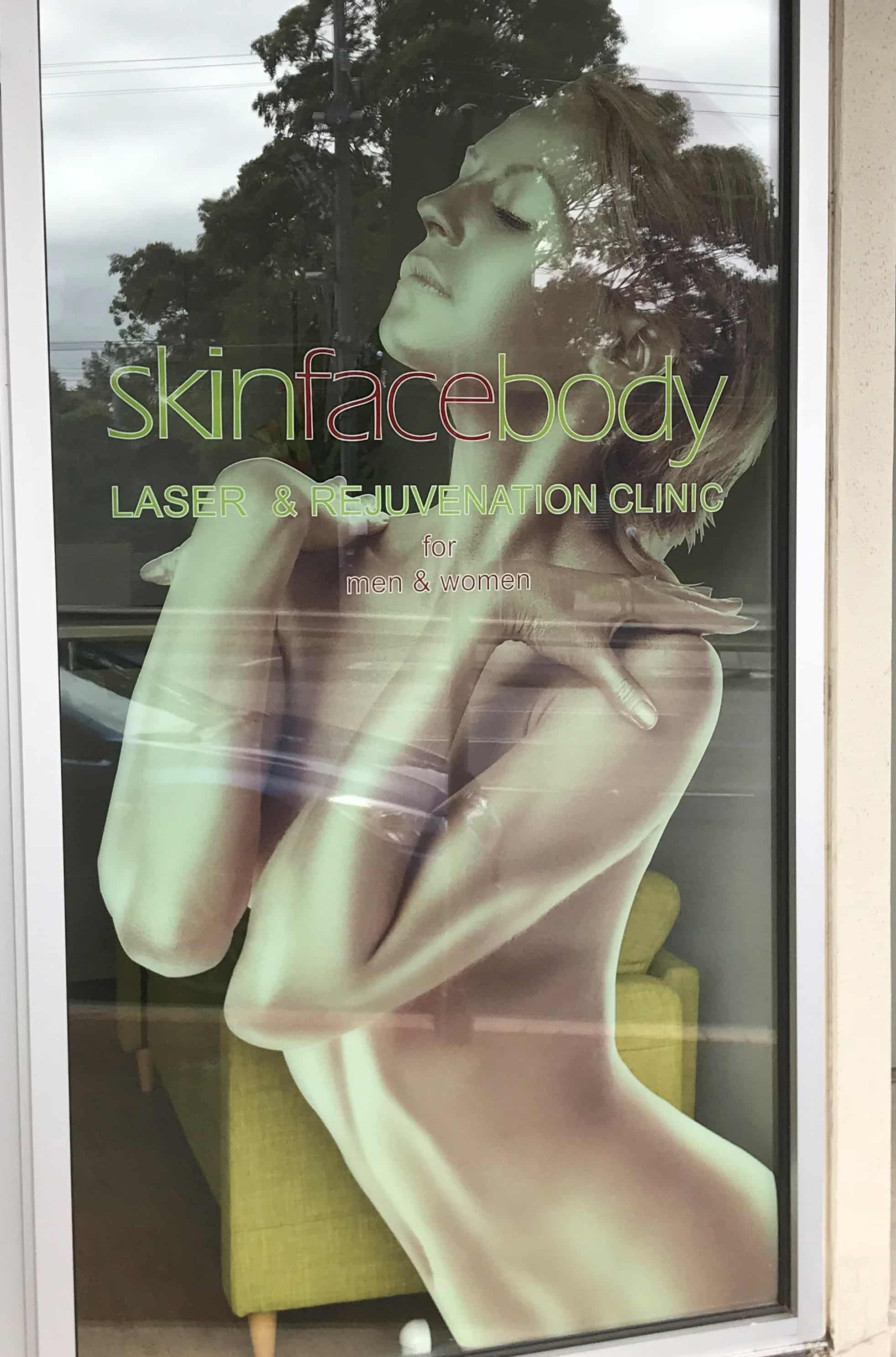 signage melbourne skin face body window etch