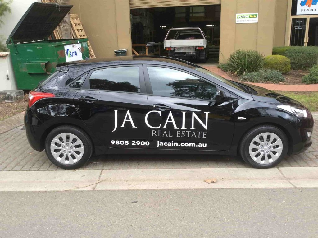 Vehicle signage jagsigns melbourne ja cain