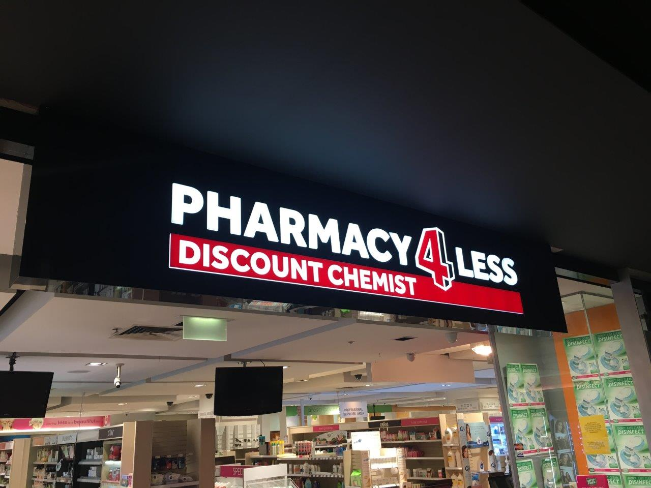 illuminated signage pharmacy4less