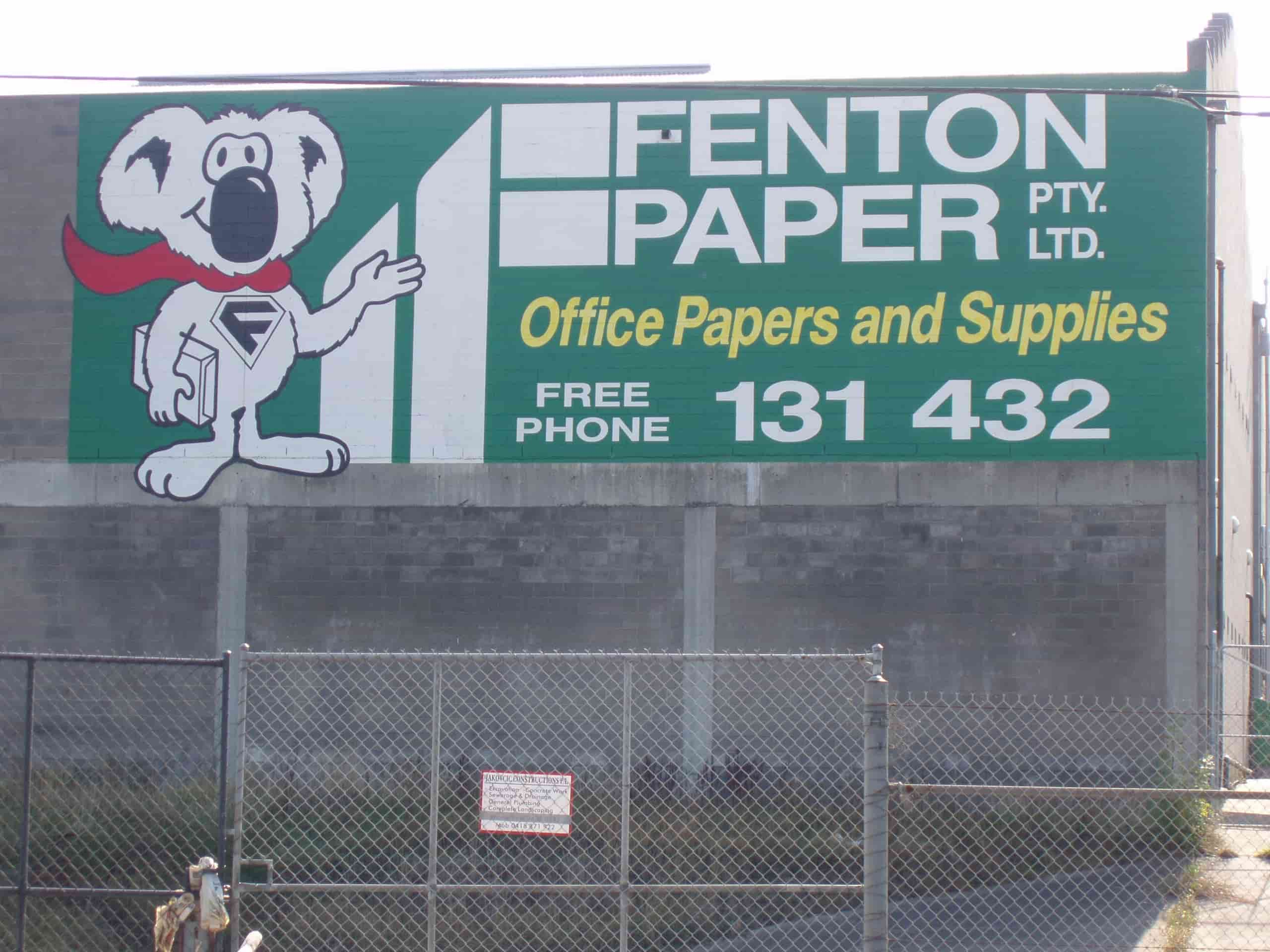 building signage fenton paper