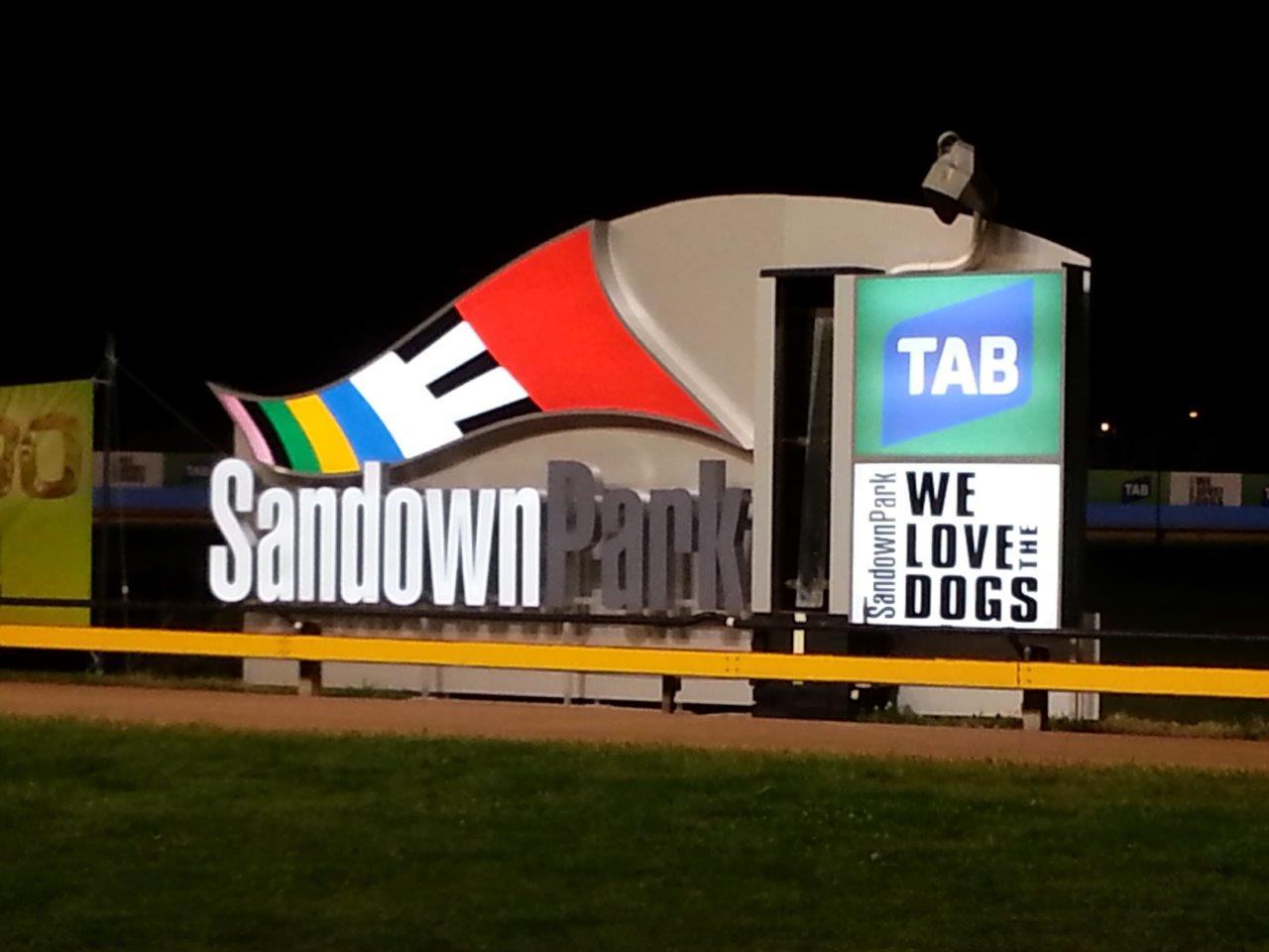 Illuminated Signage Sandown Greyhound Post