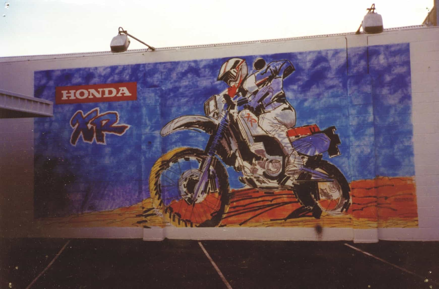 honda wall painting signage