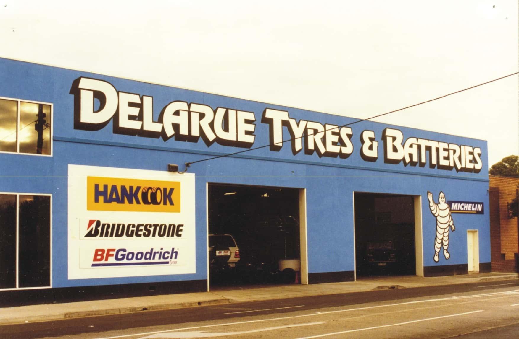 delarue tyres michelin building signage