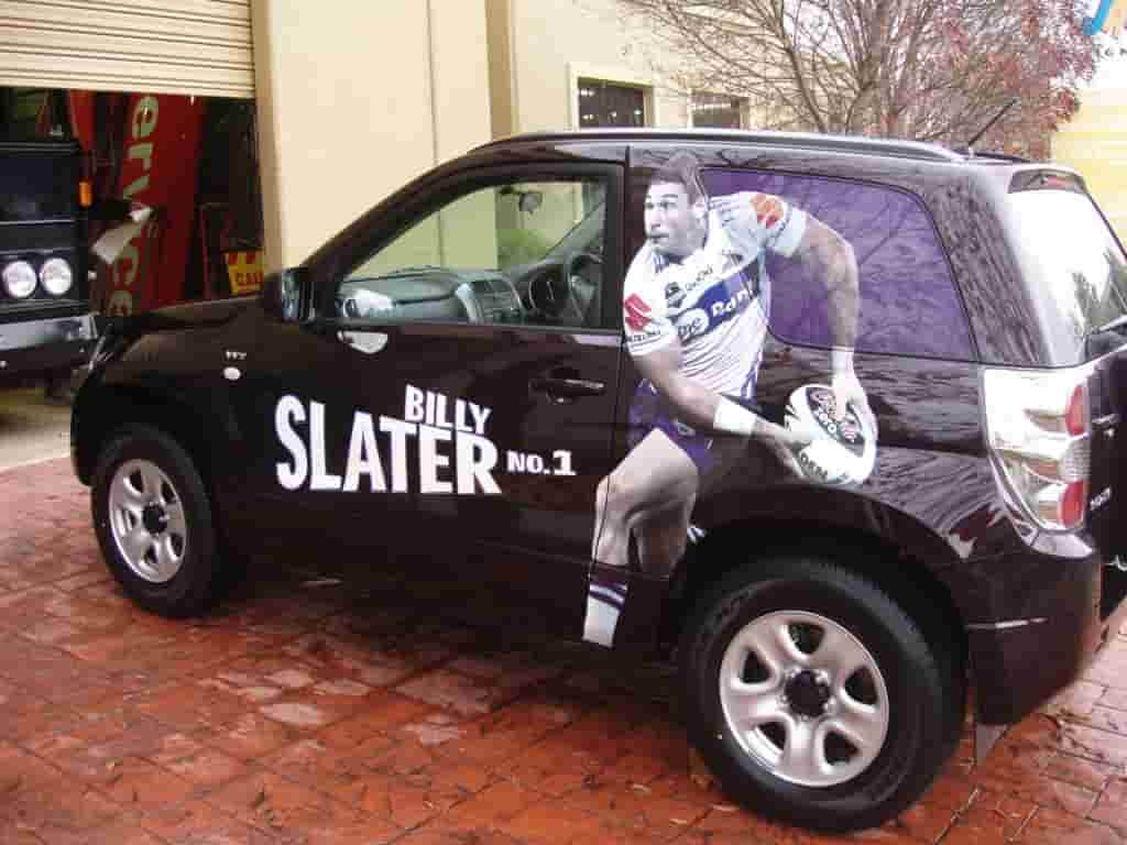 Vehicle signage billy slater