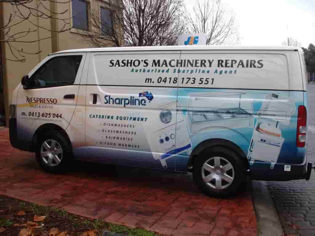 Vehicle signage sashos machinery