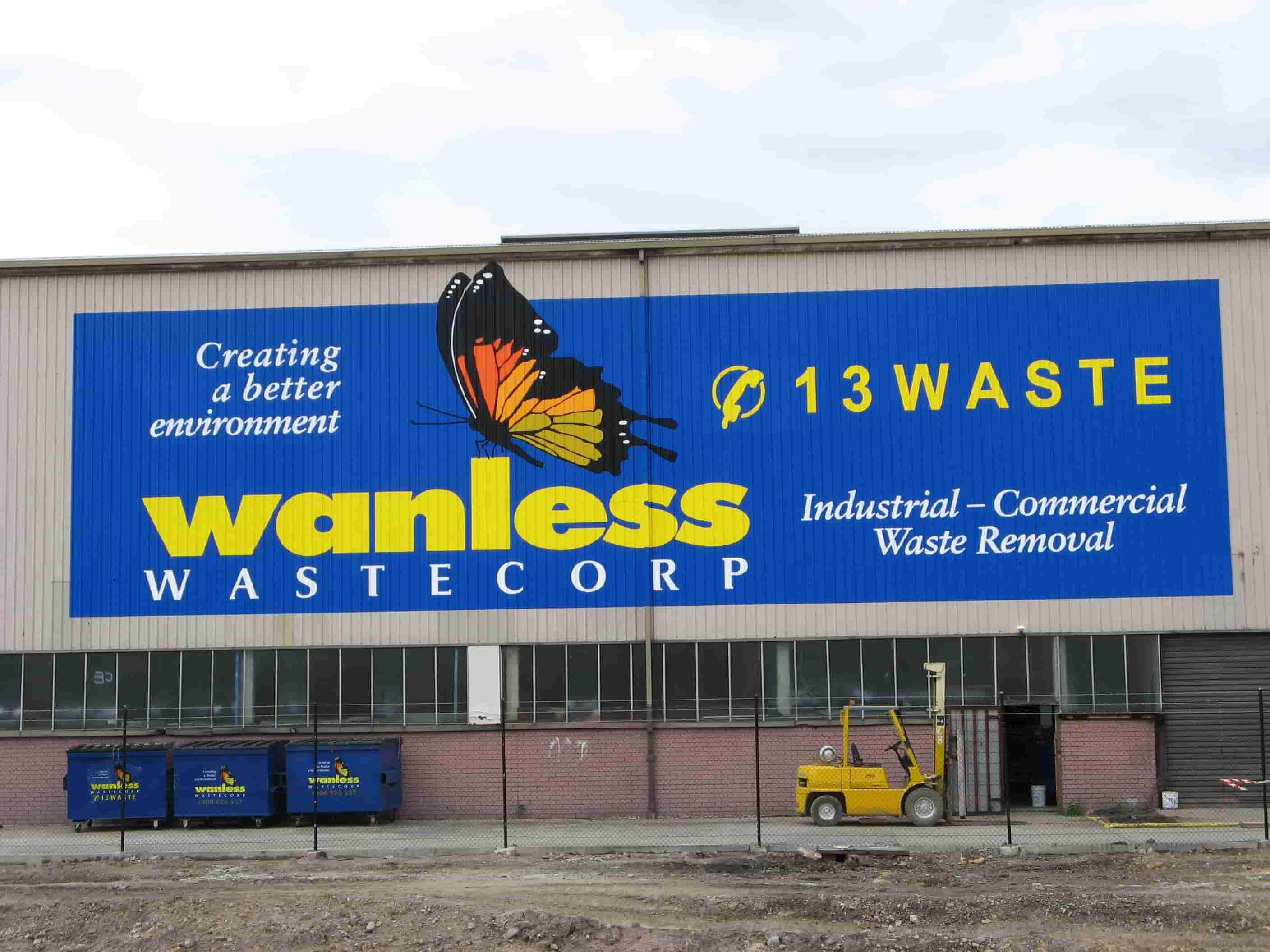 signwriting wanless wastecorp building signage